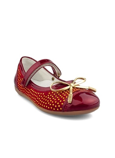 Cici Bebe Ayakkabı Cicibebe Rugan Toka Ve Boncuk Detaylı Kız Çocuk Sandalet Kırmızı